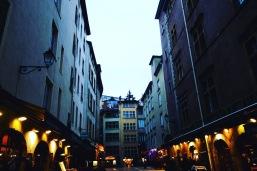 Lyon at dusk