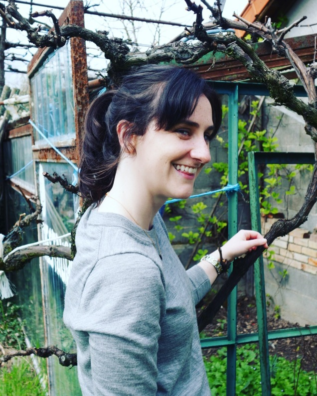 "Mary in our garden, ""the last true garden in France..."" according to our landlord"