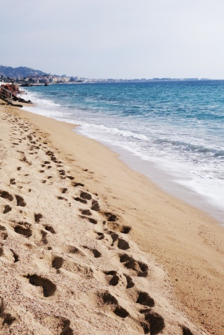 beach in Cannes la Bocca, where I live